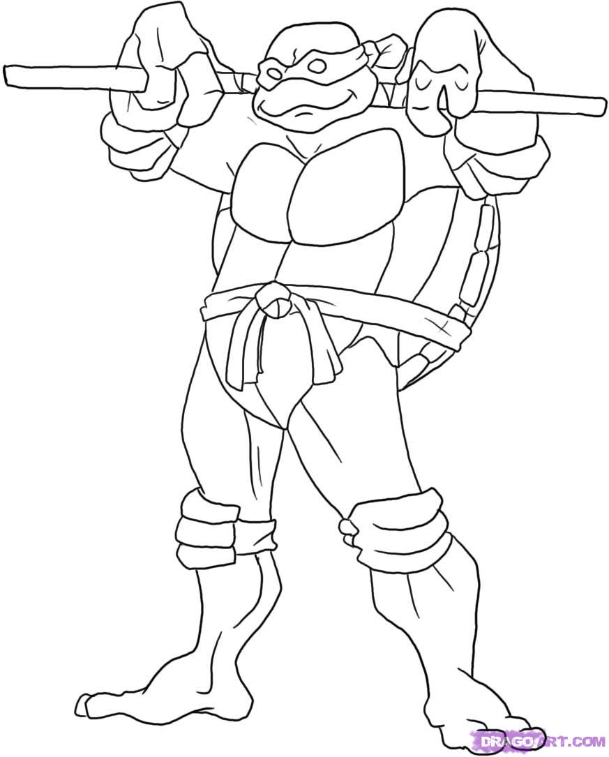 How to draw Donatello from TMNT (6)