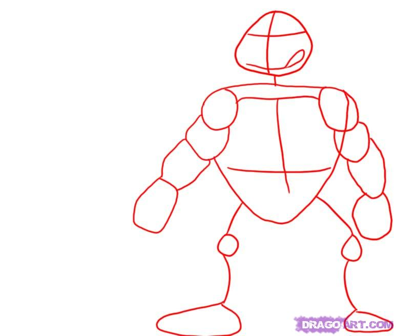 How to draw Leonardo from TMNT (1)