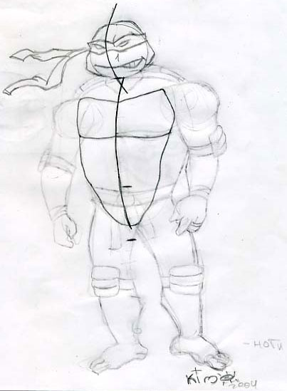 How to draw Ninja Turtle (2)