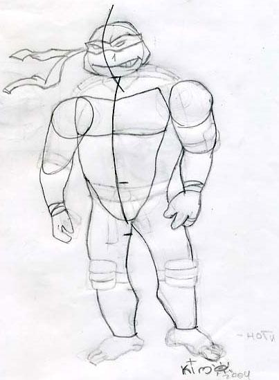 How to draw Ninja Turtle (3)