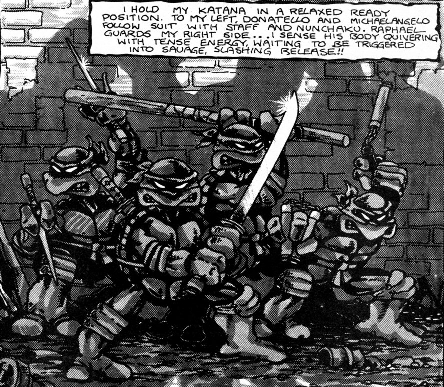 TMNT (issue 1, p.1)