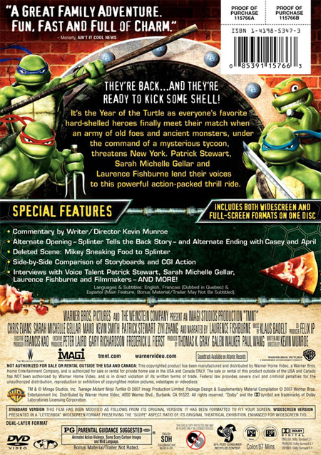 TMNT 2007 back DVD