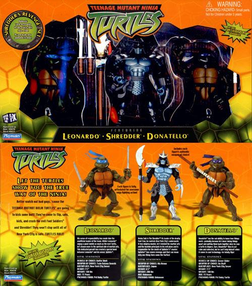 Set of figures: Leonardo, Shredder, Donatello (2003)