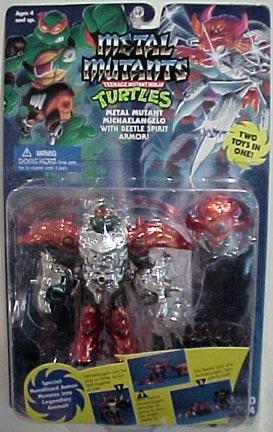 Metal Mutant Michaelangelo with Beetle Spirit Armor (in box)