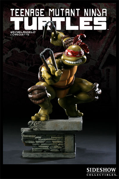 Michelangelo from Sideshow Collectibles (in celebration of the 25th anniversary of the Teenage Mutant Ninja Turtles) statue