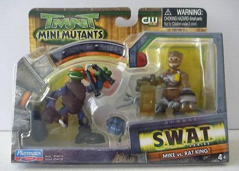 Mini-Mutants: SWAT Mike vs. Rat King (in box)