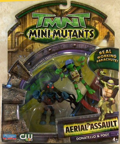 Mini Mutants. Aerial Assault. Don vs. Foot Tech (in box)
