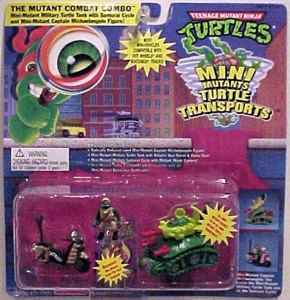 The Mutant Combat Combo (Mini-Mutant Military Turtle Tank with Samurai Cycle and Mini-Mutant Captain Michaelangelo Figure!) in box