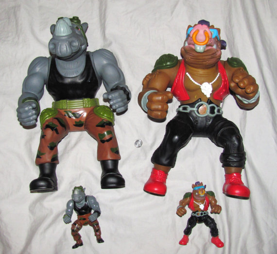 Giant Rocksteady & Bebop (figures)