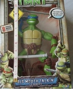 Big Mouth Talkin' Leonardo (TMNT 2007 film) boxed