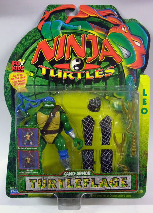 Camo-Armor Turtleflage Leonardo (Next Mutation) in box