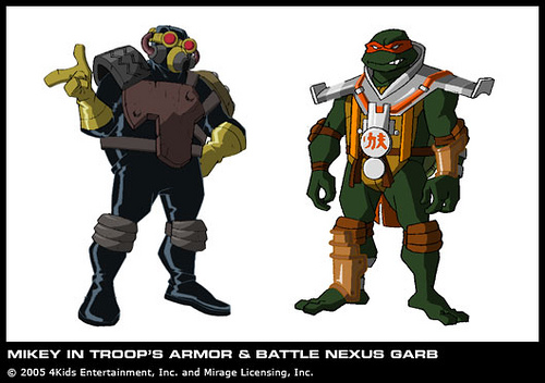 Mikey in Troop's armor & Battle Nexus Garb