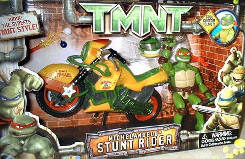 Michelangelo Stunt Rider from TMNT 2007 (boxed)