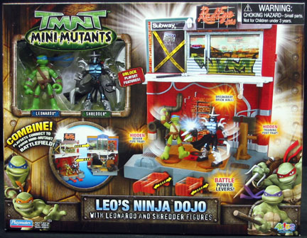 Leo's ninja dojo with Leonardo & Shredder figures (boxed)