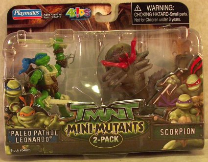 Mini-Mutants: Paleo Patrol. Leonardo vs. Scorpion (boxed)