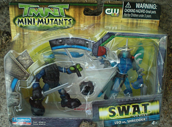 Mini-Mutants SWAT Leo vs. Shredder (Australian only release) boxed
