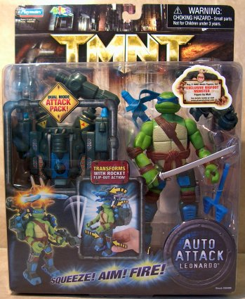 Auto Attack Leonardo (TMNT 2007 film) boxed