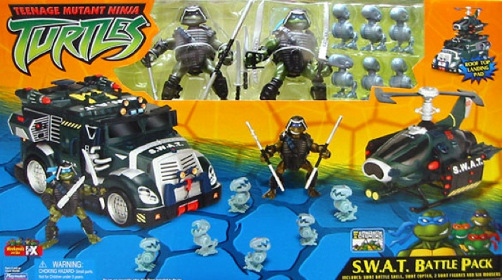 S.W.A.T. Battle Pack. Donatello, Leonardo, Mousers x 6 (boxed)