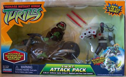 S.W.A.T. Attack Pack (S.W.A.T. Raphael, Foot Tech Gunner (boxed)