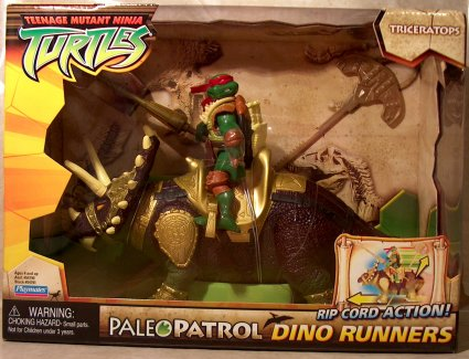 Paleo Patrol Dino Runners Triceratops with Paleo Patrol Raph (boxed)