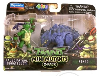 Mini Mutants. Paleo Patrol Donatello vs. Stego (boxed)
