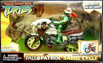 Paleo Patrol Sabre Cycle with Paleo Patrol Biker Raphael (boxed)
