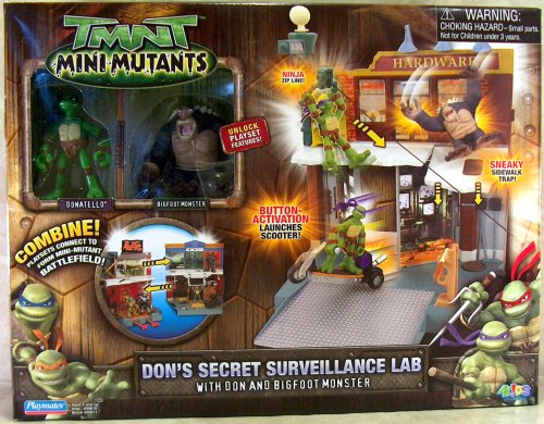 Mini Mutants. Don's Secret Surveillance Lab with Don & Bigfoot (boxed)
