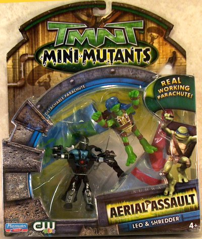 Mini Mutants. Aerial Assault. Leo & Shredder