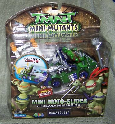 Mini Mutants. Mini Moto-Slider Donatello (boxed)
