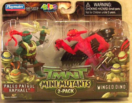 Mini-Mutants Paleo Patrol Raphael & Winged Dino (boxed)