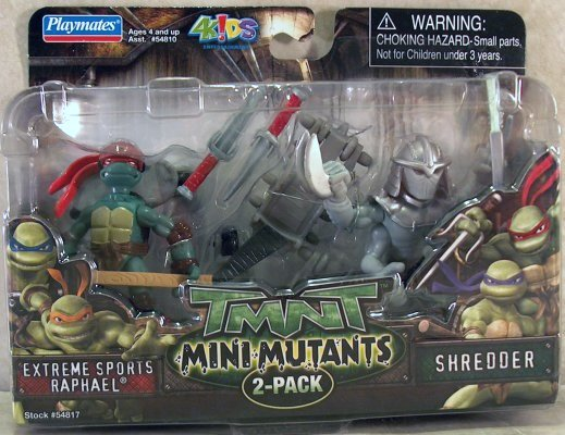 Mini-Mutants Extreme Sports Raphael & Shredder (boxed)