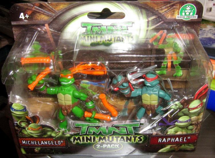 Mini Mutants. Michelangelo & Raphael (boxed)