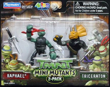 Mini-Mutants Raphael & Triceraton (boxed)