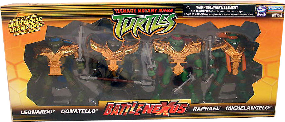 Battle Nexus. Leonardo, Donatello, Raphael, Michelangelo (boxed)