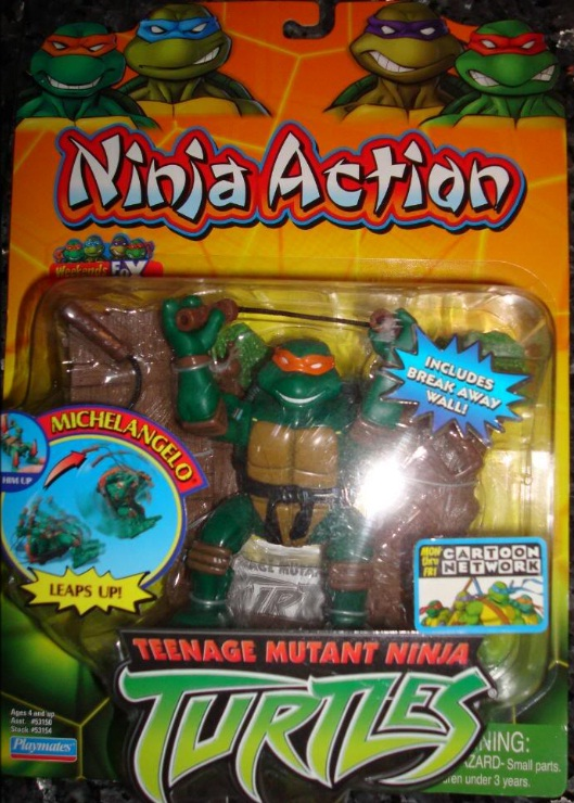 Ninja Action Michelangelo (boxed)