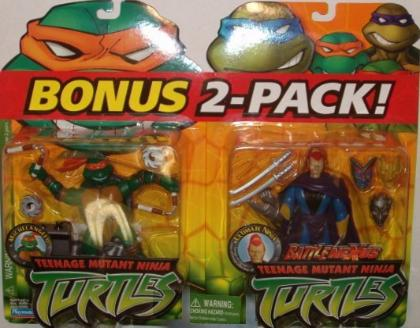 Bonus 2 Pack. Michelangelo & Ultimate Ninja (boxed)