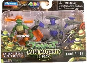 Mini-Mutants Extreme Sports Michelangelo & Foot Elite (boxed)