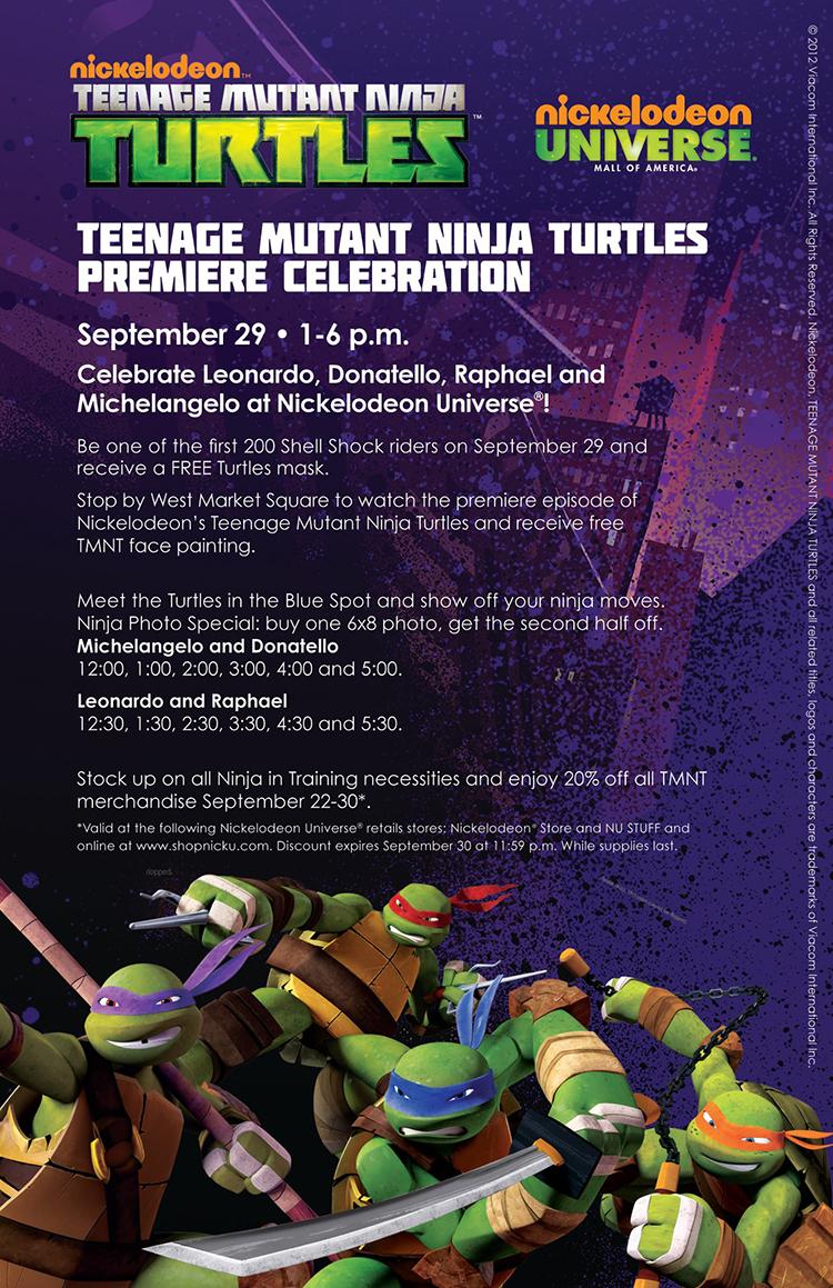 TMNT 2012 flyer premiere celebration