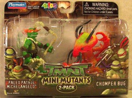 Mini-Mutants Paleo Patrol Michelangelo & Chomper Bug (boxed)