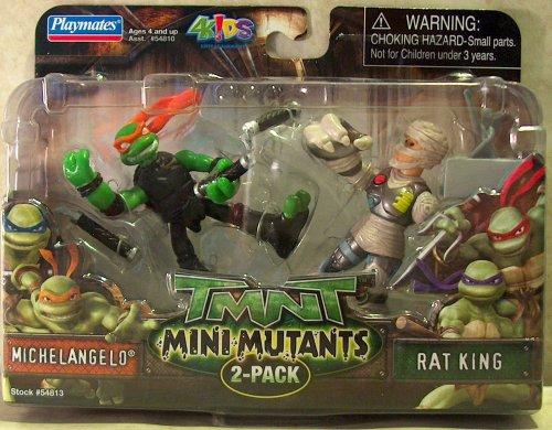 Mini-Mutants. Michelangelo vs. Rat King (boxed)