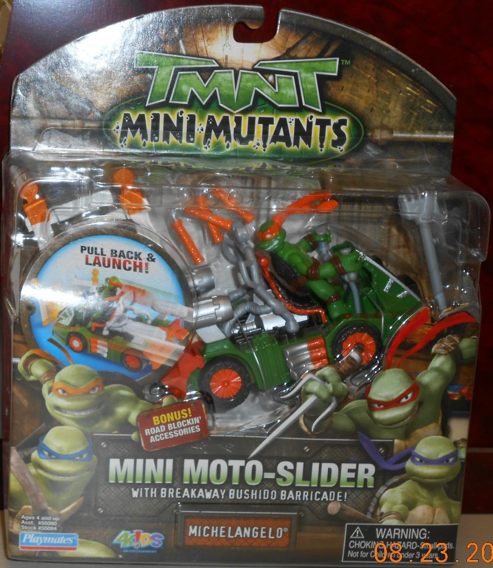 Mini Mutants. Mini Moto-Slider Michelangelo (boxed)