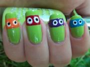 Черепашки Ниндзя - лакированные ногти.JPG