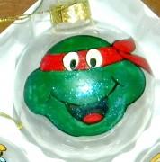 Handpainted TEENAG MUTANT NINJA TURTLE Christmas Ornament.JPG