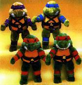 Игрушки и фигурки TMNT общая тема  - черепашки ниндзя плюшевые игрушки.jpg