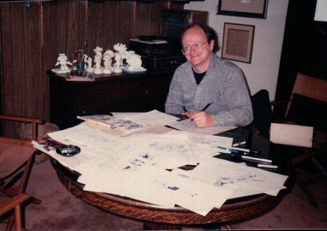 Питер Лэрд - Peter-Laird-at-Fred-Wolf's-office-1987-0r-1986.jpg