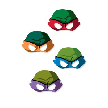 Игрушки и фигурки TMNT общая тема  - черепашки ниндзя маски.jpg