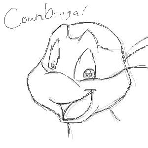 Зарубежный Фан-Арт - Cowabunga! by Evilsherbear.png