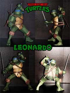 Игрушки и фигурки TMNT общая тема  - Леонардо бумажный.jpg