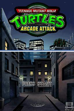 TMNT: Arcade Attack Nintendo DS  - TeenageMutantNinjaTurtlesArcadeAttackNDS.JPG