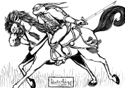 TMNT рисунки от Demon-Alukard а - Leo_on_the_Horse_by_Demon-Alukard.png